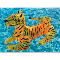 International Leisure Products 8061595 Plastic Inflatable Pool Float Tiger Toy, Black & Yello