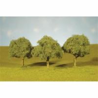 N Scale 2.25-2.5 in. Oak Trees - 4 Piece