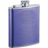 Violet Purple Leather Liquor Flask - 6 oz