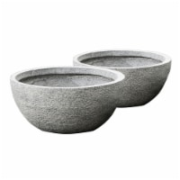 Round Bowl Planters - Set of 2
