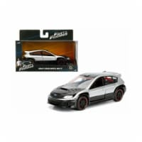 1 isto 32 Brians Subaru Impreza WRX STI Fast & Furious Movie Diecast Model Car - Silver & Bla