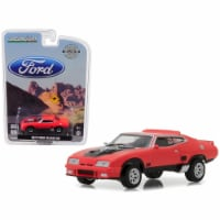 1 isto 64 1973 Ford Falcon XB Diecast Car Model, Red Pepper with Black Stripe - 1