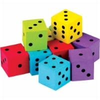 Foam Colorful Dice - Pack of 20