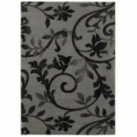 5 ft. 2 in. x 7 ft. 2 in. Grace Rectangle Area Rug, Gray & Black