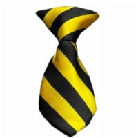 Dog Neck Tie Striped Yellow