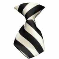 Dog Neck Tie Striped White - 1
