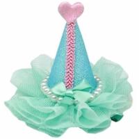 Pretty Party Hat Clip-on, Aqua