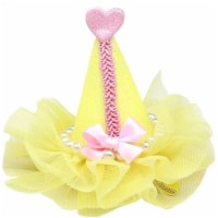 Pretty Party Hat Clip-on, Yellow