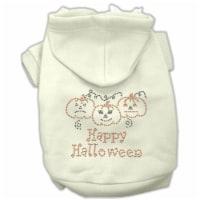 Happy Halloween Rhinestone Hoodies Cream XL - 16 - 1