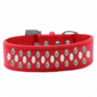 Sprinkles Pearl & AB Crystals Dog Collar, Red - Size 14