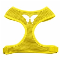 Butterfly Design Soft Mesh Harnesses Yellow Large