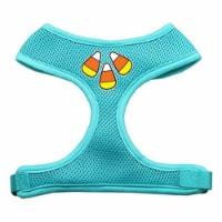 Candy Corn Design Soft Mesh Harnesses Aqua Small