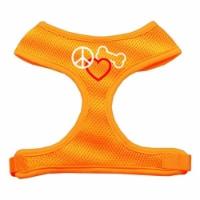 Peace  Love  Bone Design Soft Mesh Harnesses Orange Medium - 1