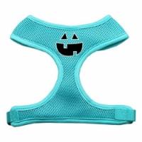 Pumpkin Face Design Soft Mesh Harnesses Aqua Medium - 1