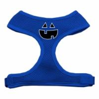 Pumpkin Face Design Soft Mesh Harnesses Blue Medium - 1