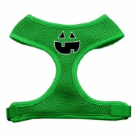 Pumpkin Face Design Soft Mesh Harnesses Emerald Green Medium - 1