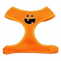 Pumpkin Face Design Soft Mesh Harnesses Orange Medium - 1