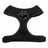 Pumpkin Face Design Soft Mesh Harnesses Black Extra Large - 1
