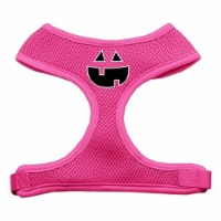 Pumpkin Face Design Soft Mesh Harnesses Pink Extra Large - 1