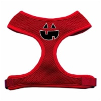 Pumpkin Face Design Soft Mesh Harnesses Red Extra Large - 1