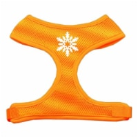 Snowflake Design Soft Mesh Harnesses Orange Extra Large - 1