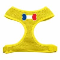 Bone Flag France Screen Print Soft Mesh Harness Yellow Extra Large - 1