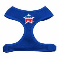 Republican Screen Print Soft Mesh Harness Blue Large - 1