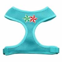 70-52 LGAQ Double Holiday Star Screen Print Mesh Harness Aqua Large
