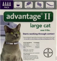 Advantage  II Purple 4-Month Flea Control for Large Cats Over 9 lbs