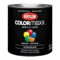 Krylon® ColorMaxx Acrylic Latex Paint - Gloss Black - 8 fl oz