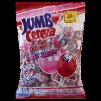 De La Rosa Jumbo Cherry Pop With Bubble Gum Filling