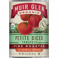 Muir Glen Organic Fire Roasted Petite Diced Tomatoes with Chipotle Peppers