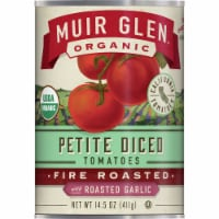 Muir Glen Organic Fire Roasted Petite Diced Tomatoes With Roasted Garlic - 14.5 oz