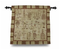 Brown and Tan Cheers Glasses and Carafes Tapestry Wall Hanging w/Rod 26 X 26 in. - One Size