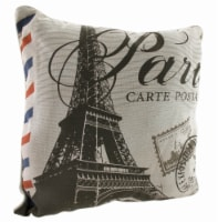 Don't Forget to Write From Paris 18in. Decorative Throw Pillow - Medium