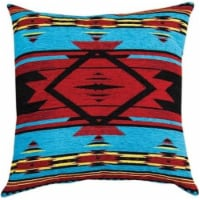 Manual Woodworkers & Weavers APFB20 20 x 20 in. Southwest Flame Tapestry Throw Pillow, Blue