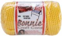 Bonnie Macrame Craft Cord 6mmX100yd-Sunshine Yellow - 1