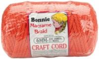 Bonnie Macrame Craft Cord 6mmX100yd-Orange - 1