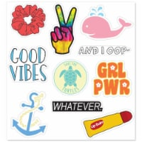 MightySkins D-VSGO1 Nature Lover Cute Stickers for Water Bottles & Laptops, VSGO 1 Girl - Pac