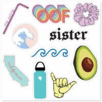MightySkins D-VSGO6 Nature Lover Cute Stickers for Water Bottles & Laptops, VSGO 6 Girl - Pac