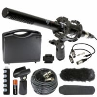 Canon Rebel Dslr External Video & Broadcast Microphone Kit 13-piece From Vidpro