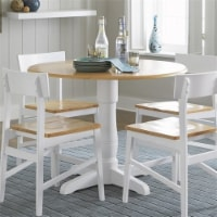 Progressive Christy 40  Round Dining Table in Light Oak and White - 1