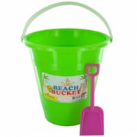 Bulk Buys OS181-24 Beach Bucket with Attached Shovel, 24 Piece -Pack of 24