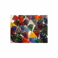 Manufacturing 29304 Speckled D4 Poly Assorted Bagged Dice, Bag - 50