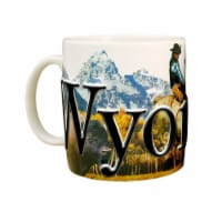 Wyoming 18 oz Full Color Relief Mug