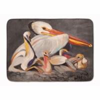 White Pelicans Machine Washable Memory Foam Mat