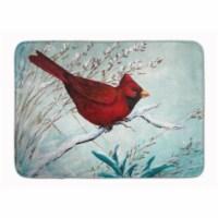 Cardinal Winter Red Bird Machine Washable Memory Foam Mat