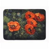 Poppies by Daphne Baxter Machine Washable Memory Foam Mat