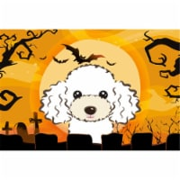 Halloween White Poodle Fabric Placemat