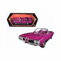 1 by 18 1970 Dodge Coronet Retractable Diecast Model Car, Purple - 1